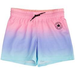 Big Girls Rainbow Ombre Drawstring Shorts