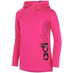 Adidas Big Girls Side Logo Long Sleeve Hooded