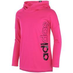Big Girls Side Logo Long Sleeve Hooded T-Shirt