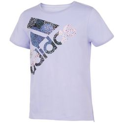 Adidas Big Girls Side Vent Dotted Logo Graphic T-Shirt