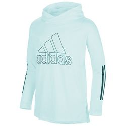 Adidas Big Girls Solid Pullover Long Sleeve Hooded T-Shirt