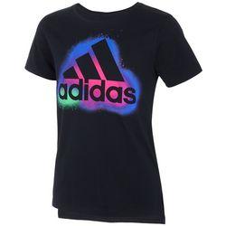 Adidas Big Girls Side Vent Logo Graphic T-Shirt