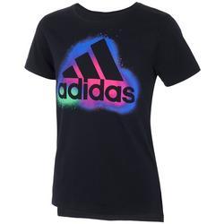Big Girls Side Vent Logo Graphic T-Shirt