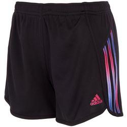 Adidas Big Girls 3-Stripe Ombre Shorts