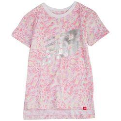 New Balance Big Girls Tie Dye Logo Graphic T-Shirt