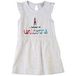 4 Hearts Big Girls I Believe In Unicorns Dress