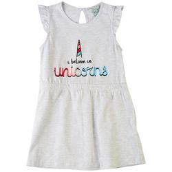 Little Girls I Believe In Unicorns Dress