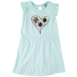 4 Hearts Little Girls Palm Tree Heart Dress
