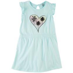 Little Girls Palm Tree Heart Dress