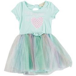 Little Girls Mermaid Sequin Tutu Dress