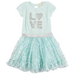Btween Little Girls Love Sequin Tutu Dress