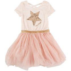 Btween Little Girls Star Shine Bright Tutu Dress