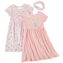 Freestyle Big Girls 2-pk. Heart Love Dress Set