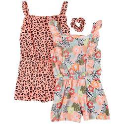 Little Girls 2-pk. Leopard Romper Set