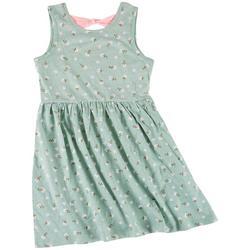 Big Girls Summer Flower Dress