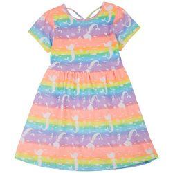 Freestyle Big Girls Rainbow Mermaid Dress