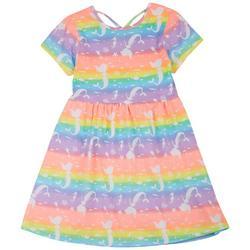 Big Girls Rainbow Mermaid Dress