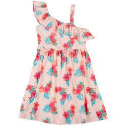 Sweet Butterfly Big Girls Hibiscus Ruffle Dress