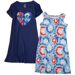 Big Girls 2-pk. Peace Tie Dye Dress Set