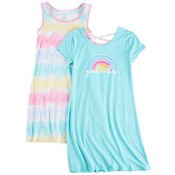 Sweet Butterfly Big Girls 2-pk. Good Vibes Tie Dye Dress Set
