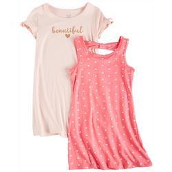 Little Girls 2-pk. Beautiful Heart Dress Set