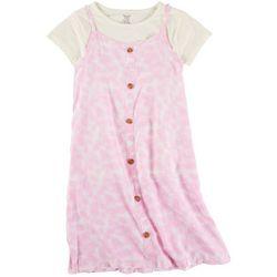 Sweet Butterfly Little Girls 2-pc. Tie Dye Button Dress Set