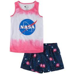 Big Girls 2-pc. Ombre Galaxy Pajama Short Set
