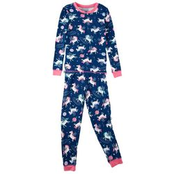St. Eve Big Girls 2-pc. Unicorn Pajama Pant Set