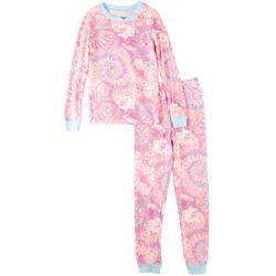 St. Eve Big Girls 2-pc. Tie Dye Pajama Pant Set