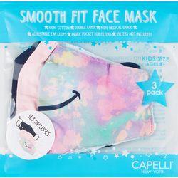 Capelli Girls 3-pk. Smile Face Mask