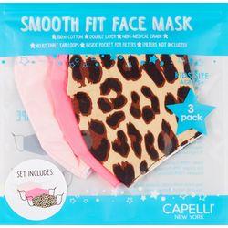 Capelli Girls 3-pk. Leopard Print Face Mask