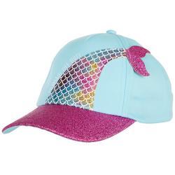 Girls Rainbow Glitter Mermaid Tail Hat