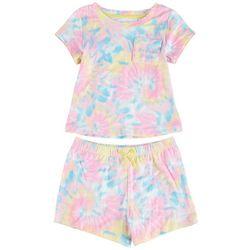 Sweet Dreams Little Girls 2-pc. Tie Dye Short Set
