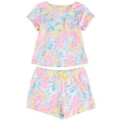Little Girls 2-pc. Tie Dye Short Set