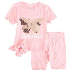 Little Girls 2-pc. Butterfly Dreamer Short Set