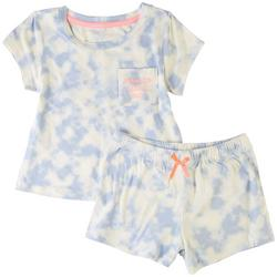 Little Girls 2-pc. Love To Stand Out Short Set