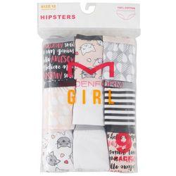 Maidenform Girl Big Girls 9-pk. Positive Cat Hipster Panties