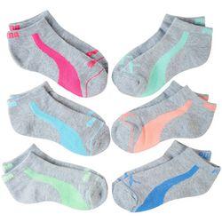 Puma Girls 6-pk. Premium Low Cut Socks