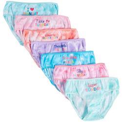 Big Girls 7-pk. Tie Dye Day Brief Panties