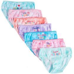 Little Girls 7-pk. Tie Dye Day Brief Panties