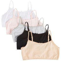 Rene Rofe Big Girls 5-pk. Joelle Basic Crop Bralette Set
