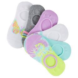 Girls 6-pk. Tie Dye Butterfly Sock Liners