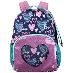 Zebra Heart Backpack Set