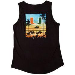 FloGrown Big Girls Miami Hurricanes Sunset Poster Tank