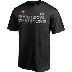 Buccaneers Mens Super Bowl LV Champions Signature T-Shirt