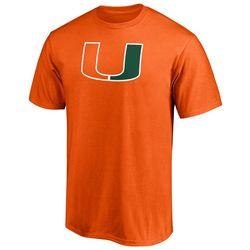 Miami Hurricanes Mens Primary Logo T Shirt by Fanatics