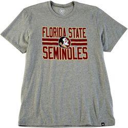 Florida State Mens Block Stripe Logo T-Shirt by 47