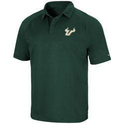 USF Mens Chest Logo Breathable Polo by Colosseum