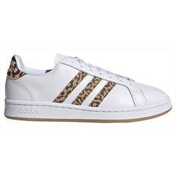 Adidas Womens Grand Court Animal Print Shoes