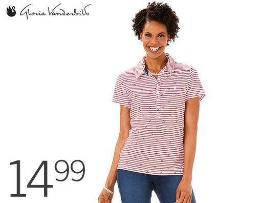 acef8f1693d Gloria Vanderbilt Annie Polo Shirt for Women   Petite